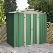 6ft x 4ft Value Apex Metal Garden Shed (2.04m x 1.31m)  *FREE 48HR DELIVERY + Free Anchor Kit