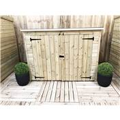7FT x 3FT PRESSURE TREATED TONGUE + GROOVE BIKE STORE + DOUBLE DOORS