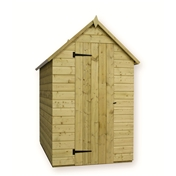 5FT x 4FT WINDOWLESS PRESSURE TREATED TONGUE + GROOVE APEX SHED + SINGLE DOOR