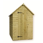 7FT x 4FT WINDOWLESS PRESSURE TREATED TONGUE + GROOVE APEX SHED + SINGLE DOOR