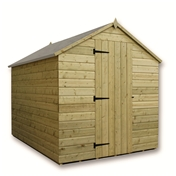 10FT x 6FT WINDOWLESS PRESSURE TREATED TONGUE & GROOVE APEX SHED + SINGLE DOOR