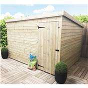 10FT x 8FT WINDOWLESS PRESSURE TREATED TONGUE & GROOVE PENT SHED