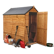 6ft x 4ft Windowless Value (Rustic) Overlap Apex Shed **FREE UK MAINLAND DELIVERY**