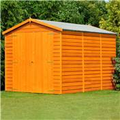 12ft x 6ft Premier Overlap Apex Windowless Wooden Garden Shed Dip-Treated (10mm Solid OSB Floor)