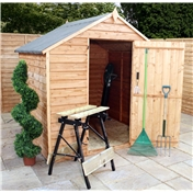 6ft x 6ft Windowless Super Saver Overlap Apex Shed with Single Door (10mm Solid OSB Floor)
