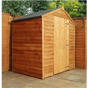 3ft x 6ft Windowless Value Wooden Overlap Apex Shed With Single Door (10mm Solid OSB Floor) - 48HR + SAT Delivery*