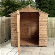 6ft x 6ft Windowless Value Tongue & Groove Apex Shed (10mm Solid OSB Floor & Roof) - 48HR & SAT Delivery*