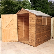 6ft x 6ft Value Wooden Tongue and Groove Apex Garden Shed with Single Door + 1 Window (10mm Solid OSB Floor and Roof) - 48HR + SAT Delivery*