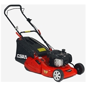 Rear Roller Rotary Push Lawnmower - 46cm - Cobra RM46B - Free Oil and Free Next Day Delivery*