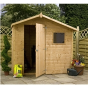 7ft x 5ft Tongue & Groove Offset Apex Shed (10mm Solid OSB Floor & Roof)