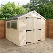 8ft x 8ft Max Plus Tongue And Groove Shed (16mm Wall Thickness)
