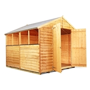 8FT x 8FT VALUE (RUSTIC) OVERLAP APEX SHED (10mm Solid OSB Floor & Roof)