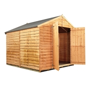 8FT x 8FT WINDOWLESS VALUE (RUSTIC) OVERLAP APEX SHED (10mm Solid OSB Floor & Roof)