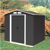 **PRE ORDER - DUE BACK IN STOCK 13TH OCTOBER** 6ft x 4ft Anthracite Metal Shed (2.01m x 1.22m)