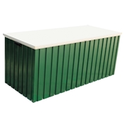 **PRE ORDER - DUE BACK IN STOCK 28TH JULY**  6ft x 2ft Premier Green Metal Storage Box (1.68m x 0.68m)