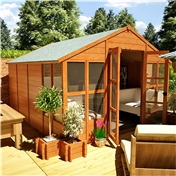 10ft x 10ft Antigua Tongue & Groove Summerhouse (10mm Solid OSB Floor & Roof)