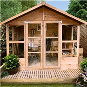7ft x 5ft Havana Tongue & Groove Summerhouse With Overhang (10mm Solid OSB Floor & Roof)