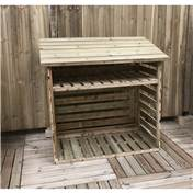 4FT x 2FT PRESSURE TREATED TONGUE + GROOVE SMALL LOG STORE