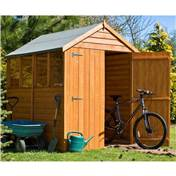 7ft x 5ft Premier Overlap Apex Wooden Garden Shed Dip-Treated + 4 Windows (10mm Solid OSB Floor)