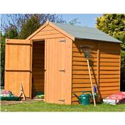 6ft x 6ft Premier Overlap Apex Windowless Wooden Garden Shed Dip-Treated (10mm Solid OSB Floor)
