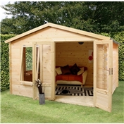 11ft x 10ft (3.29m x 2.98m) Vicky Log Cabin (19mm Tongue and Groove)