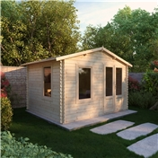 11ft x 9ft (3.43m x 2.70m) Vicky Log Cabin (19mm Tongue and Groove)