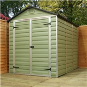 8ft x 6ft Plastic Apex Shed (2.39m x 1.88m) *FREE 48 HOUR DELIVERY*