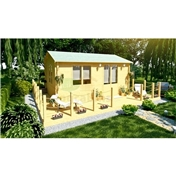 6m x 4m (20ft x 13ft) Log Cabin (2119) - Double Glazing (44mm Wall Thickness)