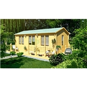 7.0m x 4.0m (23ft x 13ft) Log Cabin (5150) - Double Glazing (70mm Wall Thickness)