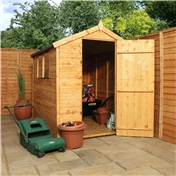 7ft x 5ft Tongue and Groove Apex Wooden Garden Shed With 2 Windows And Single Door (10mm Solid OSB Floor) - 48HR + SAT Delivery*
