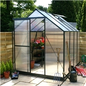 8ft x 6ft Greenhouse + FREE BASE
