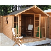 12ft x 8ft Wessex Summerhouse (12mm T&G Floor & Roof) - 48HR & SAT Delivery*