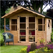 8ft x 8ft Wessex Summerhouse (12mm T&G Floor & Roof) - 48HR & SAT Delivery*