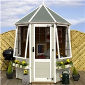 6ft x 6ft Buttermere Octagonal Summerhouse (12mm T&G Floor) - 48HR & SAT Delivery*