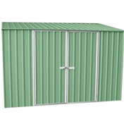 **PRE ORDER - DUE BACK IN STOCK MID OCTOBER**  10ft x 5ft Space Saver Pale Eucalyptus Metal Shed (3m x 1.52m) *FREE 48HR DELIVERY