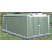 **PRE ORDER - DUE BACK IN STOCK MID OCTOBER** 10ft x 20ft Utility Pale Eucalyptus Metal Shed (3m x 6.02m)