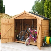 Bike Store 7ft x 3ft Overlap Super Saver with Double Doors(10mm OSB Floor) - 48HR & SAT Delivery*