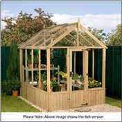 6ft x 4ft Cambridge Wooden Pressure Treated Greenhouse