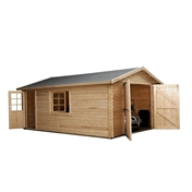 13ft x 18ft (4.2m x 5.7m) Premier Apex GARAGE Log Cabin with FREE Felt (44mm)