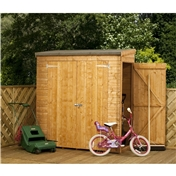6ft x 3ft Tongue and Groove Wooden Pent Shed with Double Doors + Universal Side Door (10mm Solid OSB Floor) - 48HR + SAT Delivery*