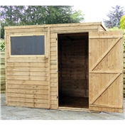 8ft x 6ft Super Saver Overlap Pent Shed (Solid 10mm OSB Floor) - 48HR & SAT Delivery*