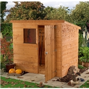 6ft x 4ft Tongue & Groove Pent Shed (10mm Solid OSB Floor) - 48HR & SAT Delivery*