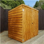 "4ft 8"" x 3ft Value Wooden Overlap Apex Mower Shed with Double Doors - 48HR + SAT Delivery*"