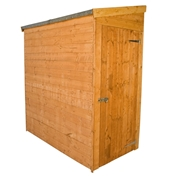 6ft x 3ft Tongue & Groove Tall Pent Shed *No Front Doors* + Universal Side Door (10mm Solid OSB Floor)