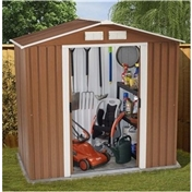 6ft x 4ft Premier Woodgrain Metal Shed (2.01m x 1.23m) + FREE 72HR DELIVERY*