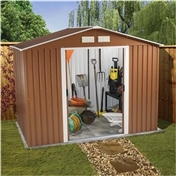 8ft x 6ft Premier Woodgrain Metal Shed (2.62m x 1.84m) + FREE 72HR DELIVERY*