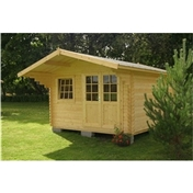 13ft x 13ft (4m x 4m) LARSEN TRADITIONAL Log Cabin - 44mm Wall Thickness