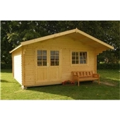 16ft x 13ft (5m x 4m) LARSEN TRADITIONAL Log Cabin - 44mm Wall Thickness