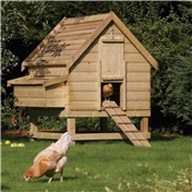 Rowlinson Deluxe Pressure Treated Chicken Coop - Houses 6