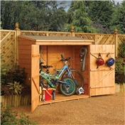 6ft x 3ft Deluxe Tongue and Groove Wallstore / Bike Shed (1.83m x 0.83m)